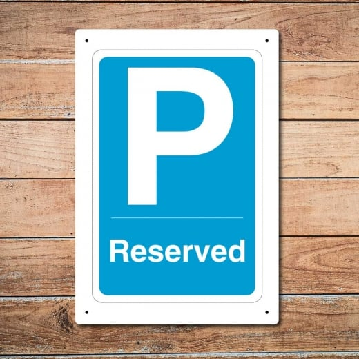 Wall Chimp Parking Reserved Metal Sign