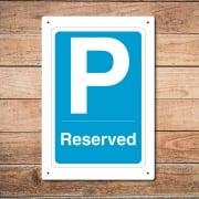 Parking Reserved Metal Sign