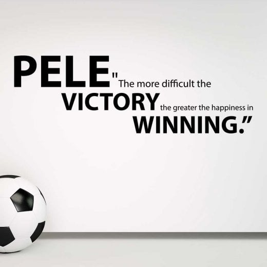 Wall Chimp Pele Motivational Football Quote Wall Sticker