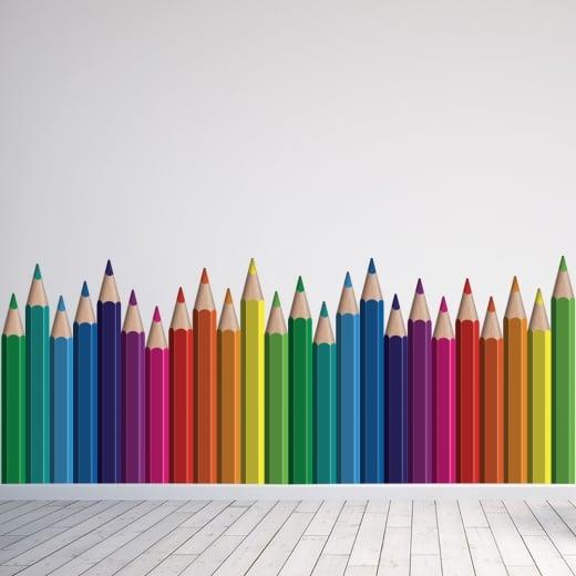Wall Chimp Pencil Crayon's Printed Wall Sticker