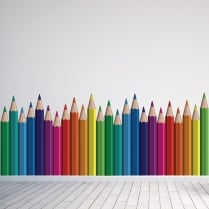 Pencil Crayon's Printed Wall Sticker