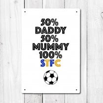 Personalised 100% Football Metal Sign With Your Club Name
