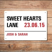 Personalised Anniversary London Metal Sign