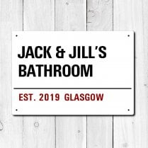 Personalised 'Bathroom' Metal Sign