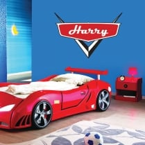Personalised Cars Badge Wall Sticker