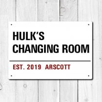 Personalised 'Changing Room' Metal Sign