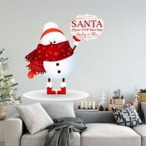 Wall Chimp Personalised Christmas Snowman Wall & Window Sticker
