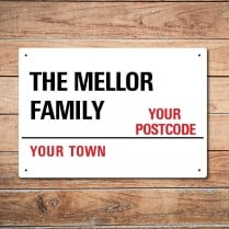 Personalised Family London Metal Sign