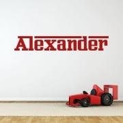 Personalised Ferrari Font Wall Sticker