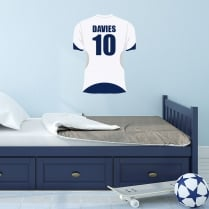 Personalised Football Shirt Printed Wall Sticker - (Name & Number)