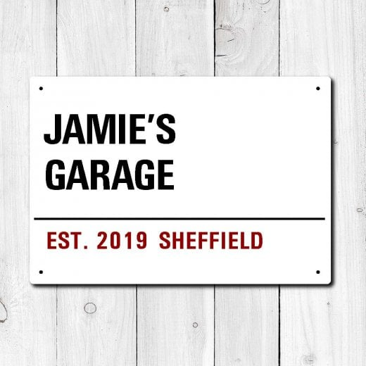 Wall Chimp Personalised 'Garage' Metal Sign