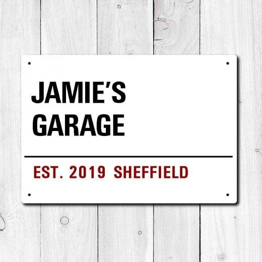 Wall Chimp Personalised 'Garage' Metal Sign