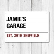 Personalised 'Garage' Metal Sign