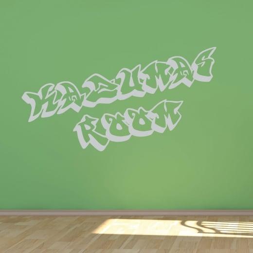 Wall Chimp Personalised Graffiti Font Wall Sticker