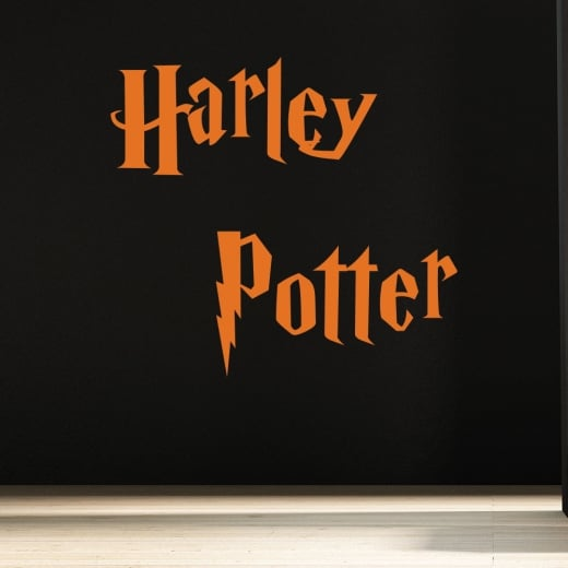 Wall Chimp Personalised Harry Potter Font Wall Sticker