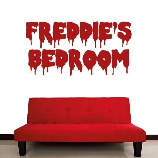 Wall Chimp Personalised Horror Font Wall Sticker