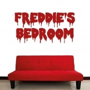Personalised Horror Font Wall Sticker
