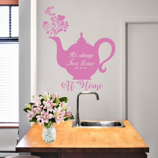 Wall Chimp Personalised Its Always Tea Time Wall Sticker