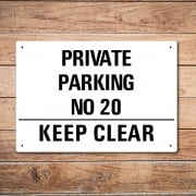 Personalised Keep Clear Metal Sign
