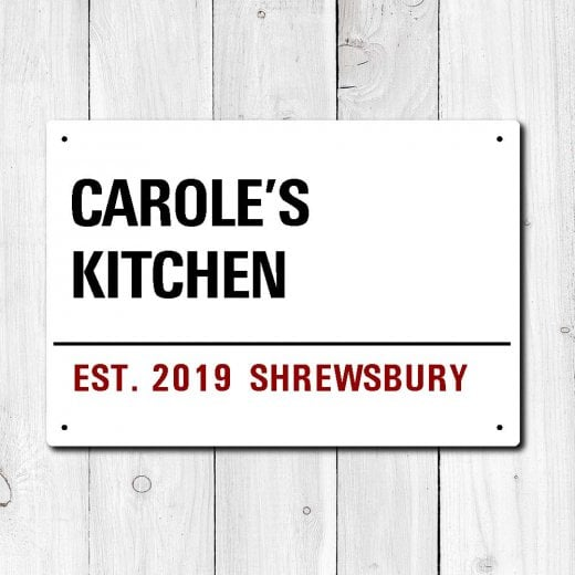 Wall Chimp Personalised 'Kitchen' Metal Sign