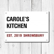 Personalised 'Kitchen' Metal Sign