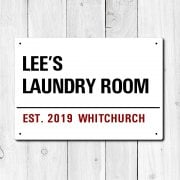 Personalised 'Laundry Room' Metal Sign
