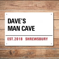 Personalised Man Cave London Metal Sign