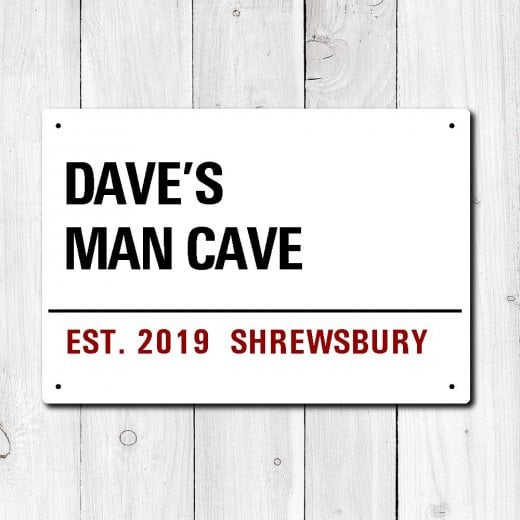 Wall Chimp Personalised 'Man Cave' Metal Sign