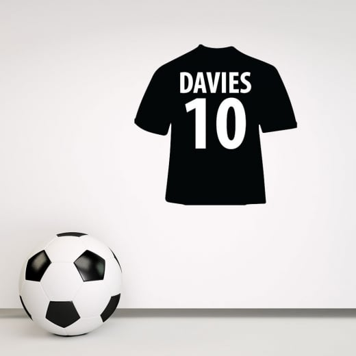 Wall Chimp Personalised Match Of The Day Football Shirt Wall Sticker - (Name & Number)