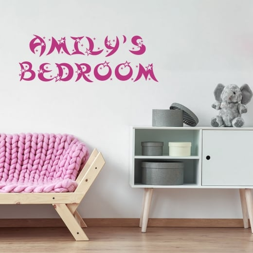 Wall Chimp Personalised Moon Star Font Wall Sticker