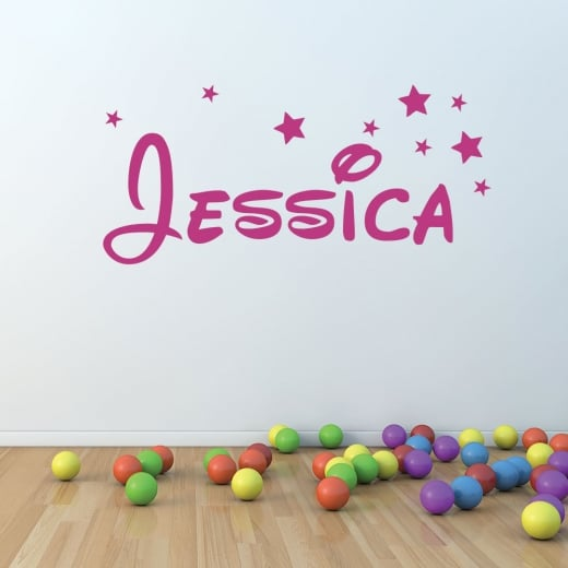 Wall Chimp Personalised Name Font Wall Sticker
