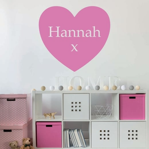 Wall Chimp Personalised Name Heart Wall Sticker