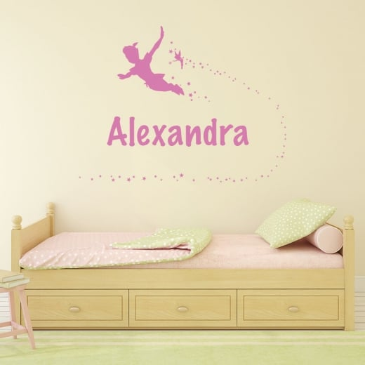 Wall Chimp Personalised Peter Pan & Tinker Bell Wall Sticker