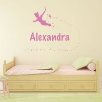 Personalised Peter Pan & Tinker Bell Wall Sticker