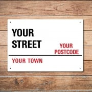 Personalised 'Postal Address' Metal Sign