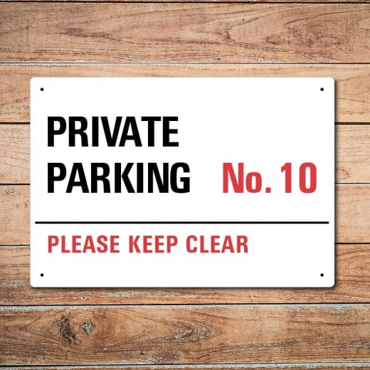 Wall Chimp Personalised Private Parking Metal Sign