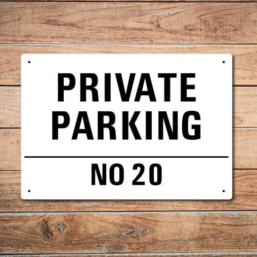 Wall Chimp Personalised 'Private Parking' Metal Sign