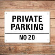 Personalised 'Private Parking' Metal Sign