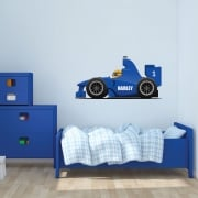 Personalised Racing Car Printed Wall Sticker