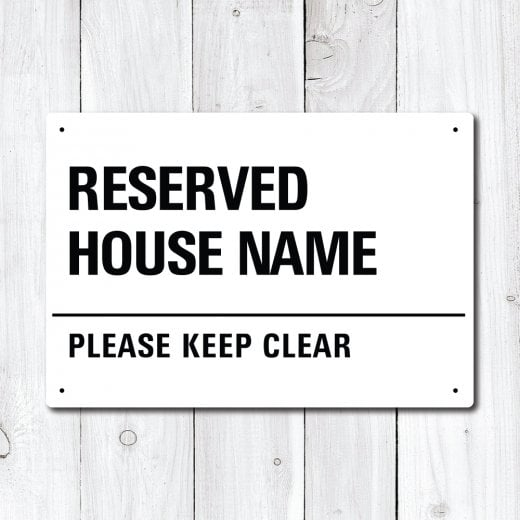 Wall Chimp Personalised 'Reserved' House Name Metal Sign