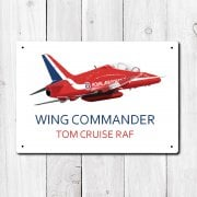 Personalised Royal Air Force Red Arrows Metal Sign