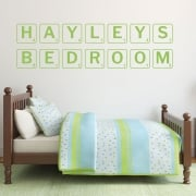 Personalised Scrabble Font Wall Sticker