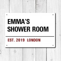 Personalised 'Shower Room' Metal Sign