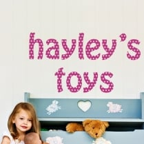Personalised Star Font Wall Sticker