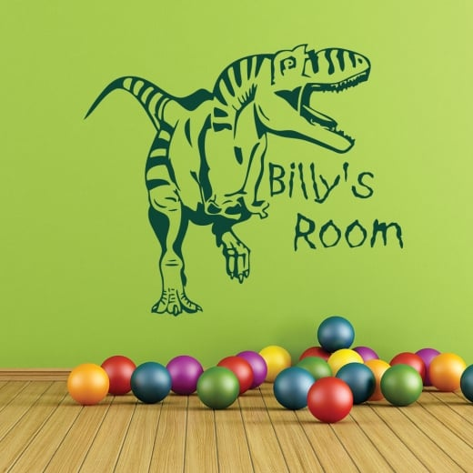 Wall Chimp Personalised T-Rex Dinosaur Wall Sticker