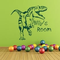 Personalised T-Rex Dinosaur Wall Sticker