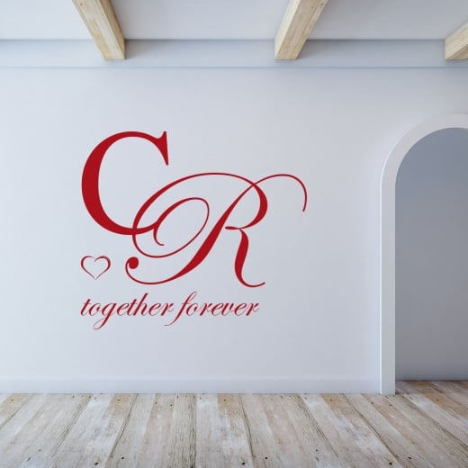 Wall Chimp Personalised Together Forever Wall Sticker