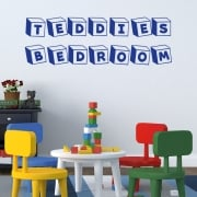 Personalised Toy Cubes Font Wall Sticker