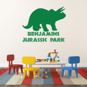Personalised Triceratops Dinosaur Wall Sticker