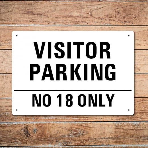 Wall Chimp Personalised 'Visitor Parking' Metal Sign